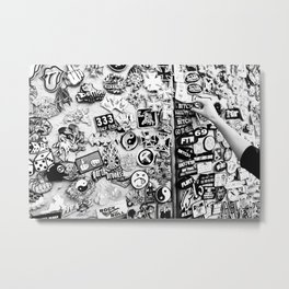 Bitchy Metal Print