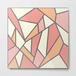 Geometric Colour Pattern V4 Metal Print