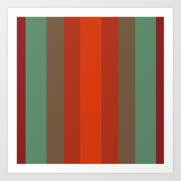 Rust Turquoise Spice 2 - Color Therapy Art Print