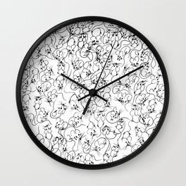 Many Mini Mice Wall Clock