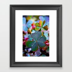 Heart clover Framed Art Print