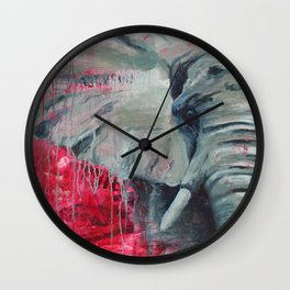 A Shade of Red Wall Clock