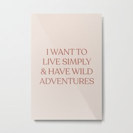 Adventure Quote Metal Print
