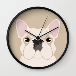 Frenchie - Cream Wall Clock
