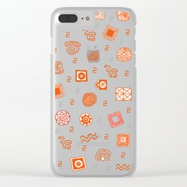 Ethnic Mosaic Clear iPhone Case
