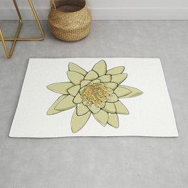 Nenuphar White Water Lily Flower Rug