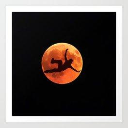 Breakdance on the moon Art Print