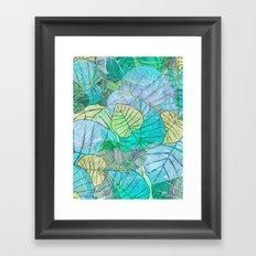 Leaves in Rosy Background 2 Framed Art Print