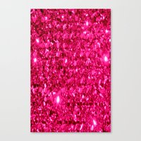 sparkle Canvas Prints featuring SparklE Hot Pink by 2sweet4words Designs