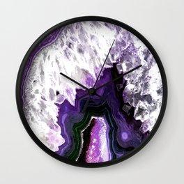 Ultra Violet Agate Illustration Wall Clock