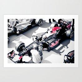 Vettel on Pole, COTA Art Print