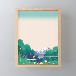 Blooming in the forest Framed Mini Art Print
