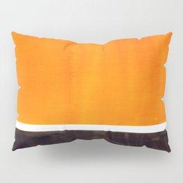 Minimalist Mid Century Modern Color Block Pop Art Rothko Inspired Golden Yellow Black Squares Pillow Sham