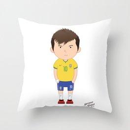 Neymar Junior - Brazil - World Cup 2014 Throw Pillow