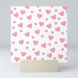Hearts pattern - pink Mini Art Print