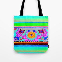 Serape and Flowers Tote Bag