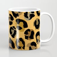 leopard Mugs featuring Leopard by Julia Badeeva