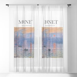 Monet - Impression, Soleil Levant Sheer Curtain