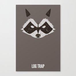 Rocket Raccoon - Log Trap Canvas Print