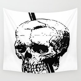 The Skull of Phineas Gage Vintage Illustration Wall Tapestry