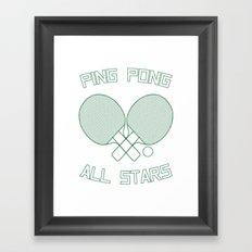 Ping Pong All Stars (Green) Framed Art Print