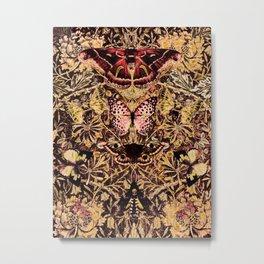Honeysuckle, Butterflies and Moths Metal Print