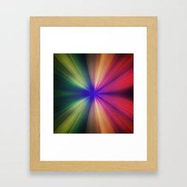 Spectral Flash Framed Art Print