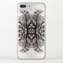Winter Storm Ink Blot Clear iPhone Case
