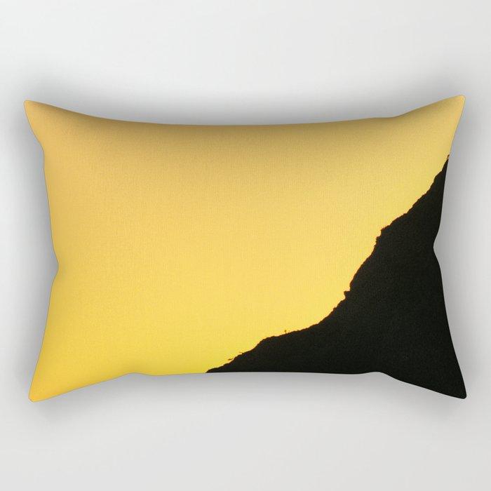 """""""Sunset at the mountains"""". Boca de la Pescá""""(1.512 meters). Rectangular Pillow"""