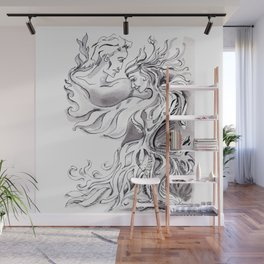 Fire couple Wall Mural