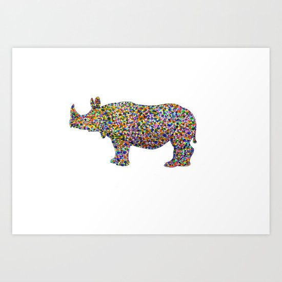 rhinocolor Art Print