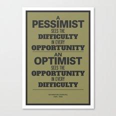 Pessimist / Optimist Canvas Print