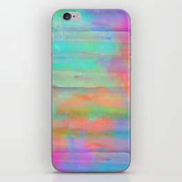 pastel coloured abstract design iPhone Skin