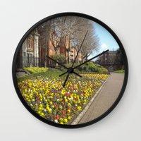 dublin Wall Clocks featuring Dublin by Ganeswar Sahoo