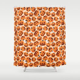 Halloween Jacks Shower Curtain