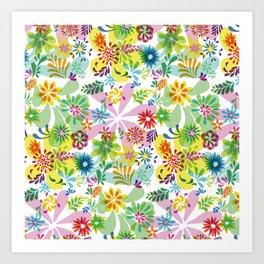 Flowerpower_2 Art Print