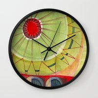 carnival Wall Clocks featuring Carnival by Angella Meanix