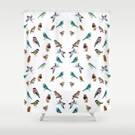 I love birds Shower Curtain