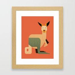Whimsy Kangaroo Framed Art Print