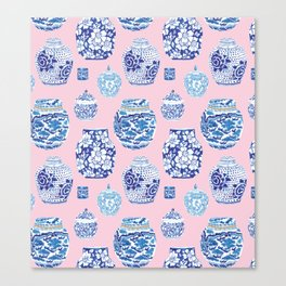 Chinoiserie Ginger Jar Collection No.7 Canvas Print