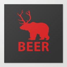 DEER & BEAR = BEER Canvas Print