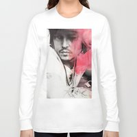 johnny depp Long Sleeve T-shirts featuring Johnny Depp Artwork by E. Staugaard