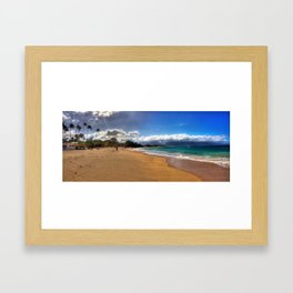 Baldwin Beach North Shore Maui, Hawaii Framed Art Print