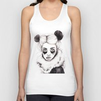 red panda Tank Tops featuring Panda by Nora Bisi
