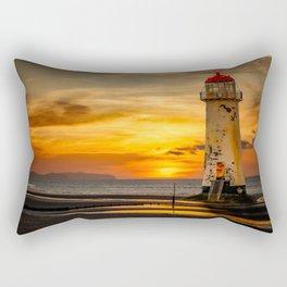 Sunset At The Lighthouse Rectangular Pillow