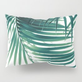 Palm Leaves Green Vibes #4 #tropical #decor #art #society6 Pillow Sham