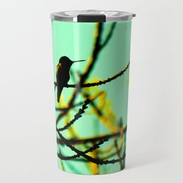 hummingbird in the ash tree Travel Mug