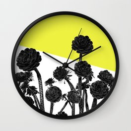 cactus flowers Wall Clock