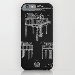Piano Patent - Black iPhone Case