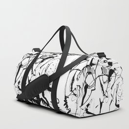 Thoughts - b&w Duffle Bag